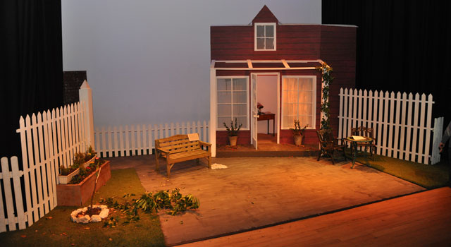 All My Sons stage set