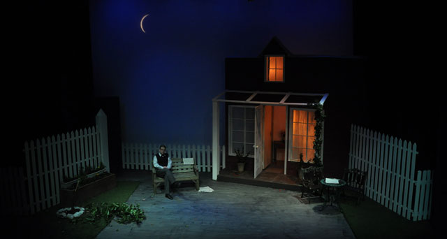 All My Sons - stage set at night