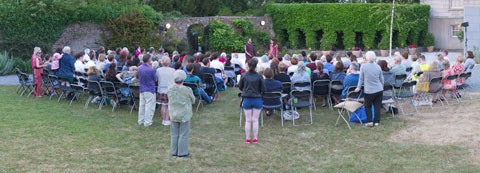 Audience at Shakespeare in St Enda's Park